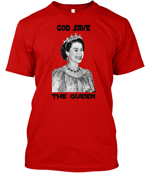 God Save The Queen Classic Red T-Shirt Front