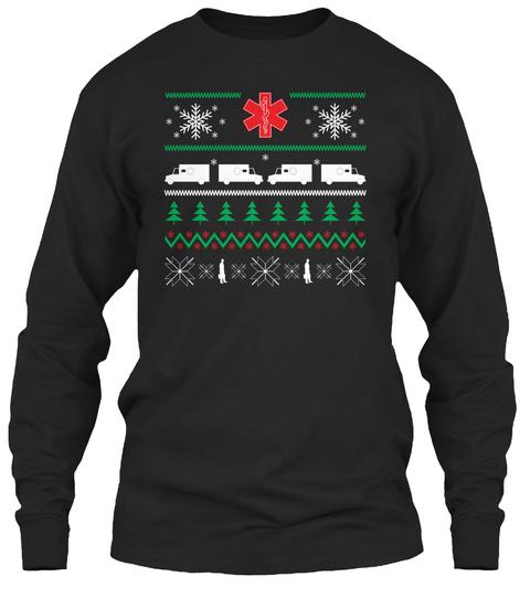 Paramedic Holiday Design  Black T-Shirt Front