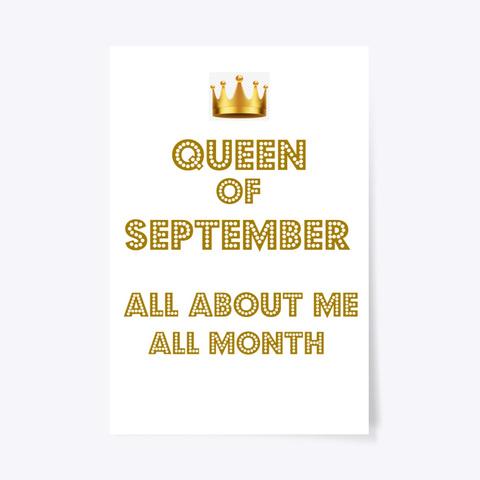 Queen September White T-Shirt Front