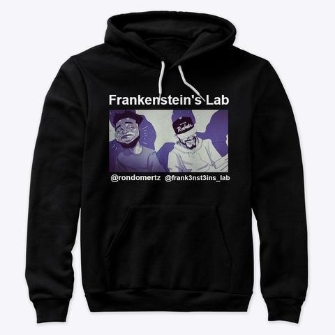Frankenstein's Lab Merch Black T-Shirt Front