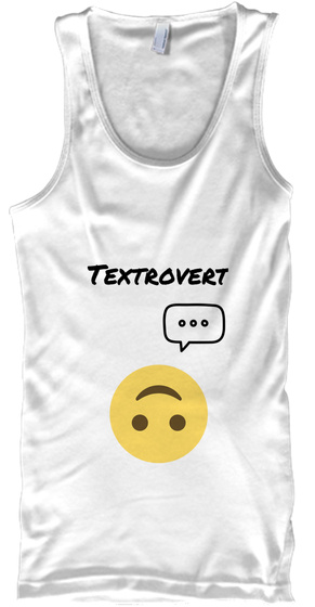 Textrovert White Tank Top Front