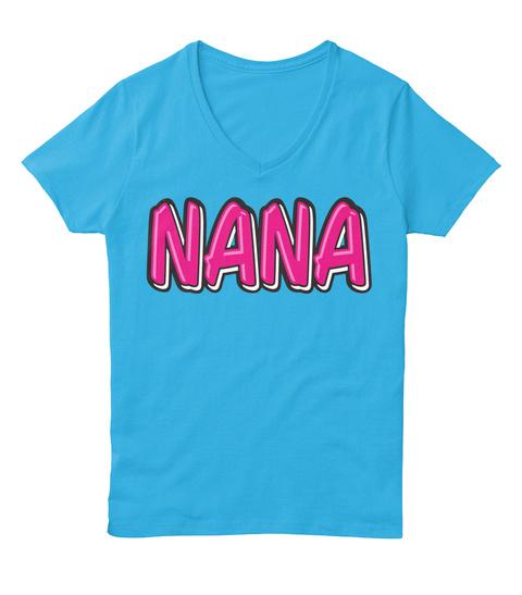 Nana Aquatic Blue  T-Shirt Front