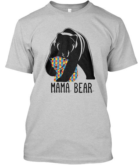 Mama Bear Light Steel T-Shirt Front