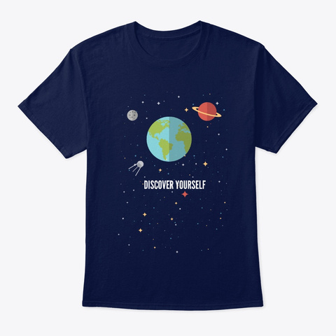 Discover Yourself Navy T-Shirt Front