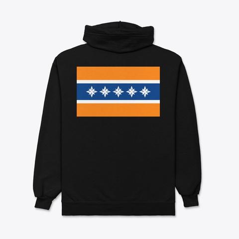 Albany Flag Merchandise Black T-Shirt Back
