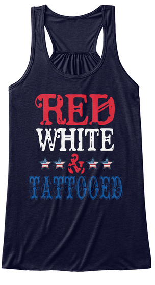 Red White Tattooed Midnight T-Shirt Front