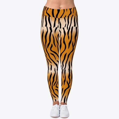 Tiger Stripes Black T-Shirt Front