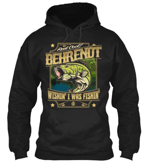 Behrendt Fishing Gift Black T-Shirt Front