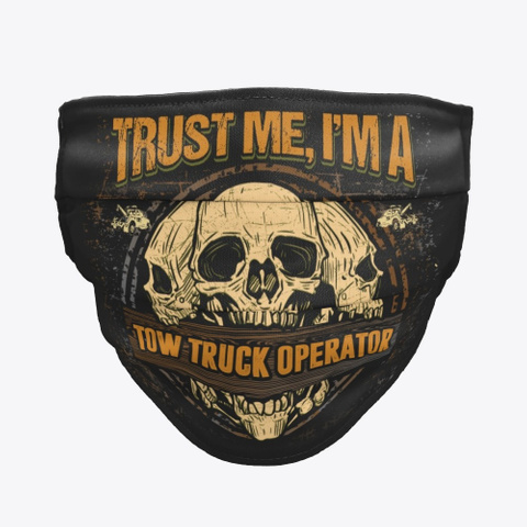 Awesome Tow Truck Operator Black T-Shirt Front