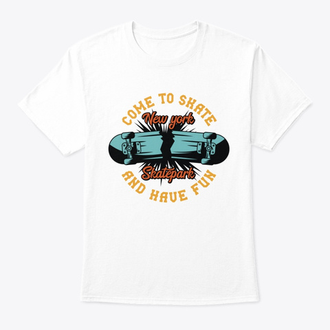 New York Skatepark White T-Shirt Front