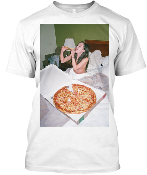 Gia Paige Pizza Party White T-Shirt Front