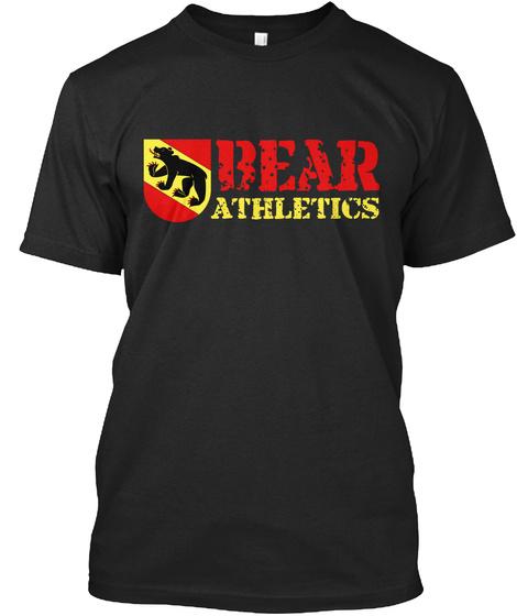 Bear Athletics Black T-Shirt Front