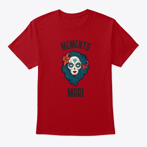 Memento Mori Sugar Skull Deep Red T-Shirt Front