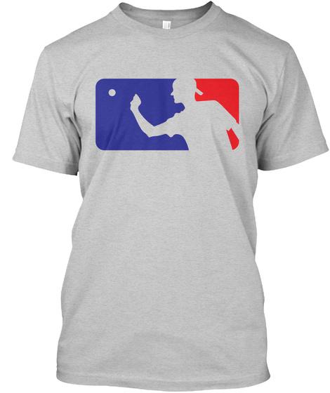Major League Beer Pong! Light Steel T-Shirt Front