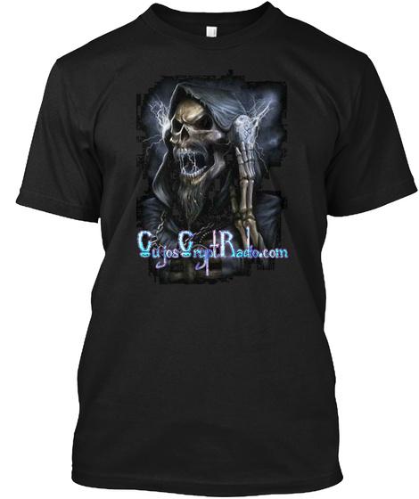 Gujos Grupt Radio.Com Black T-Shirt Front