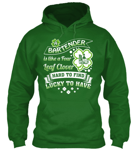 A Bartender Is Like A Four Leaf Clover Hard To Find Lucky To Have Irish Green T-Shirt Front