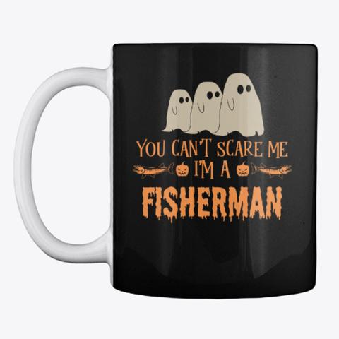 Fisherman Halloween Mug Black Mug Front