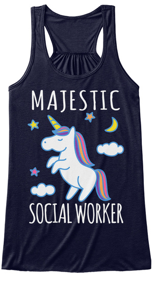 Majestic Social Worker Midnight T-Shirt Front