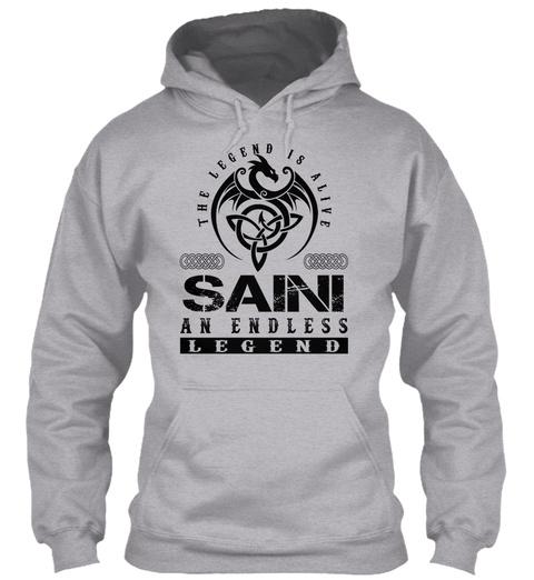 Saini   Legends Alive Sport Grey T-Shirt Front