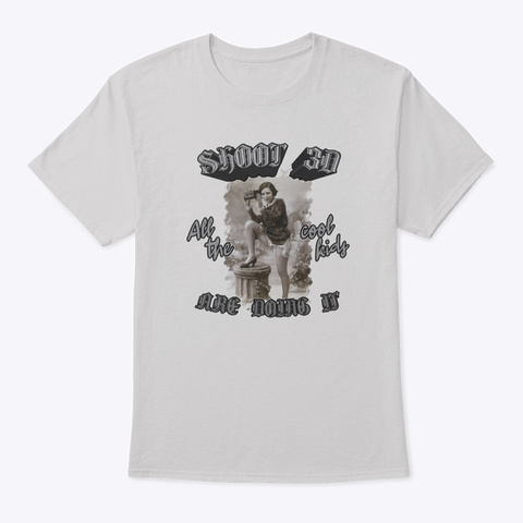 Shoot 3 D   The Cool Kids Are Doing It Light Steel T-Shirt Front