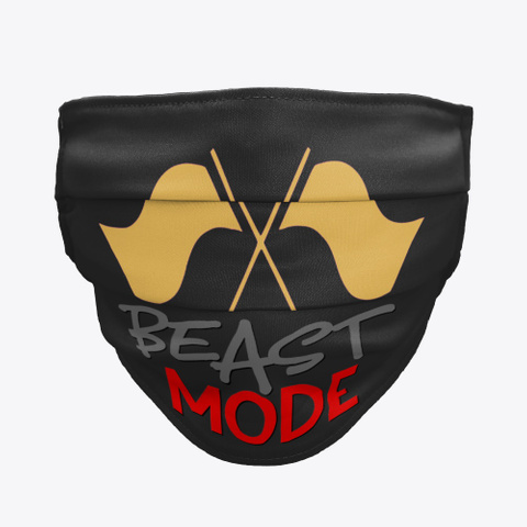 Color Guard   Beast Mode   Face Mask Black T-Shirt Front