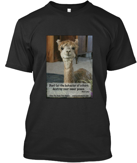 Don't Let The Behaviour Of Others Destroy Your Inner Peace Black T-Shirt Front