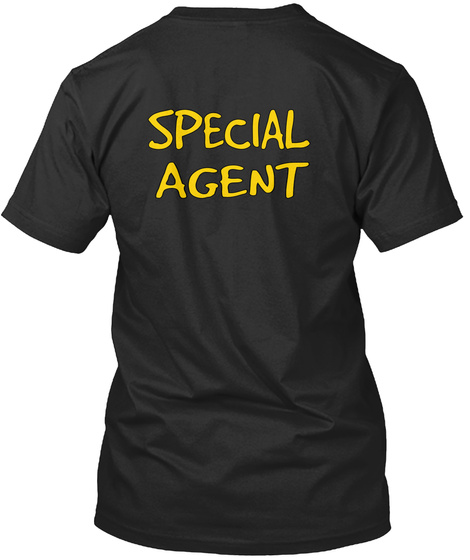 Special Agent Black T-Shirt Back