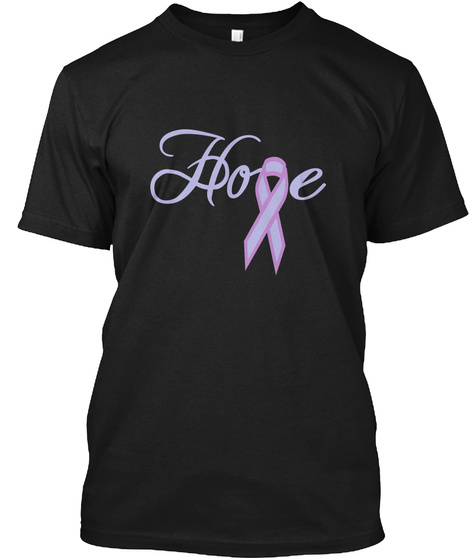 Hope Black T-Shirt Front