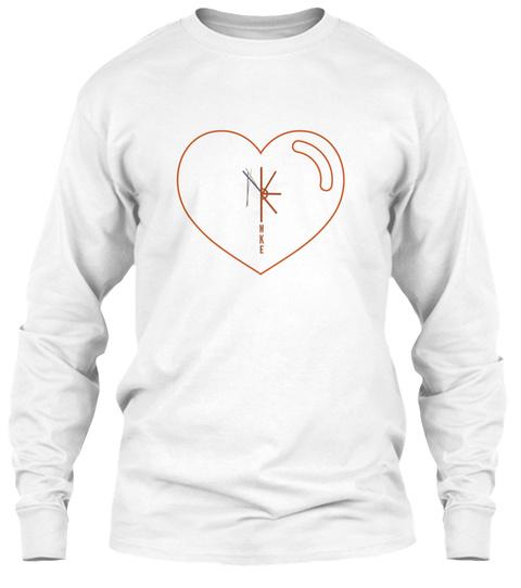 Love Mke White T-Shirt Front