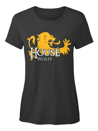 Wolff Family House   Lion Black T-Shirt Front