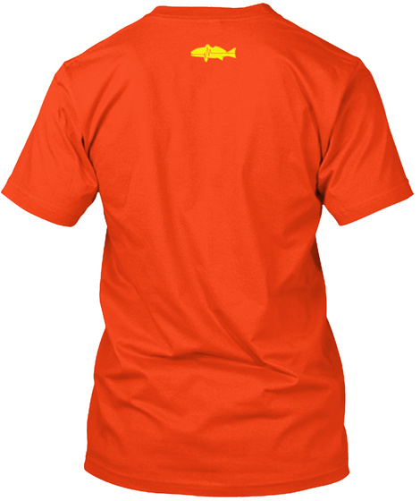 Cfodt Fish Tail Redfish Deep Orange  T-Shirt Back