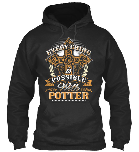 Everything Possible With Potter   Jet Black T-Shirt Front
