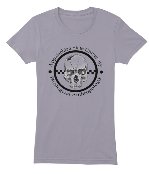 Appalachian State University Biological Anthropology Slate Women's T-Shirt Front