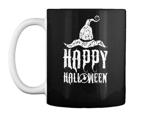 Happy Halloween Black T-Shirt Front