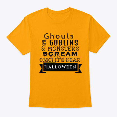 Goblins And Ghouls  Gold T-Shirt Front