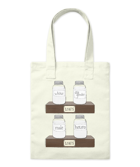 Tears Tote Natural T-Shirt Front