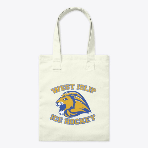 West Islip Ice Hockey Merchandise Natural T-Shirt Front