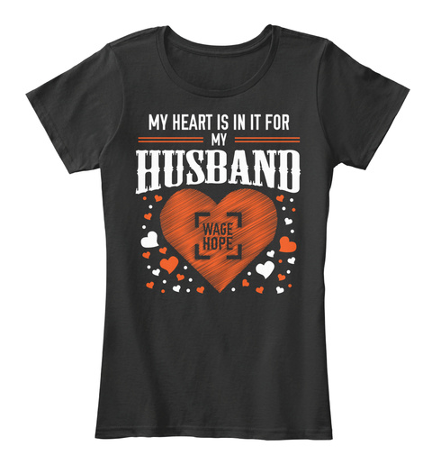 My Heart Is In It For My Husband Black Camiseta de Mujer Front