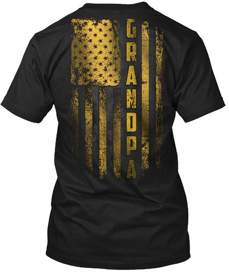 Grandpa Gold Black T-Shirt Back