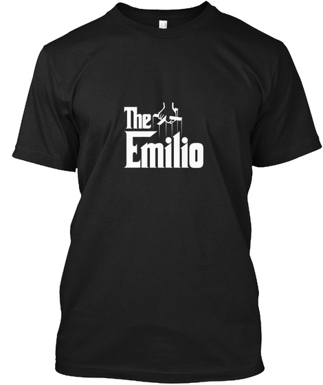 Emilio The Family Tee Black T-Shirt Front