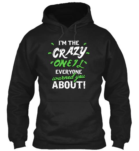Oneil Crazy Name Shirt Black T-Shirt Front