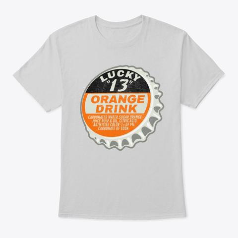 Vintage Lucky 13 Soda Bottle Cap Light Steel T-Shirt Front