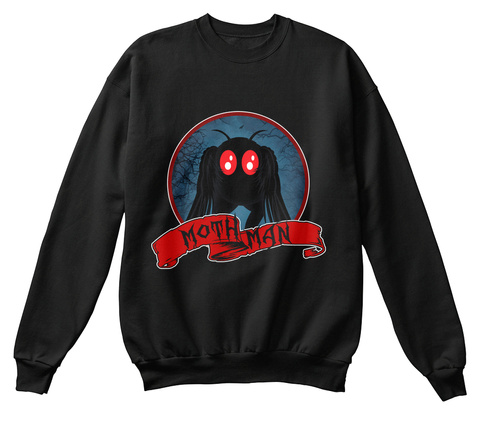 Metal Mothman In Point Pleasant Costume Black T-Shirt Front