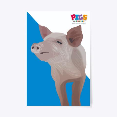 Heroic Pig Poster Standard T-Shirt Front