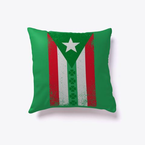 Puerto Rico Irish Shamrock Flag Gift Green T-Shirt Front