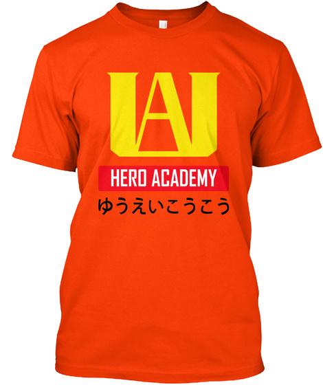 Ua Hero Academy Orange T-Shirt Front