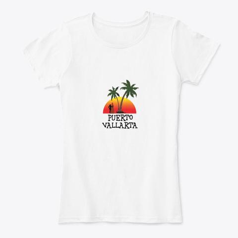 Puerto Vallarta Mexico White T-Shirt Front