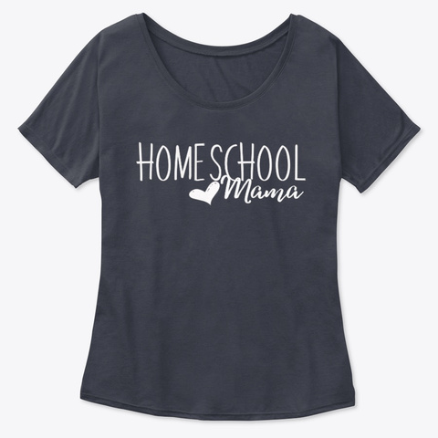Homeschool Mama Tee Midnight T-Shirt Front