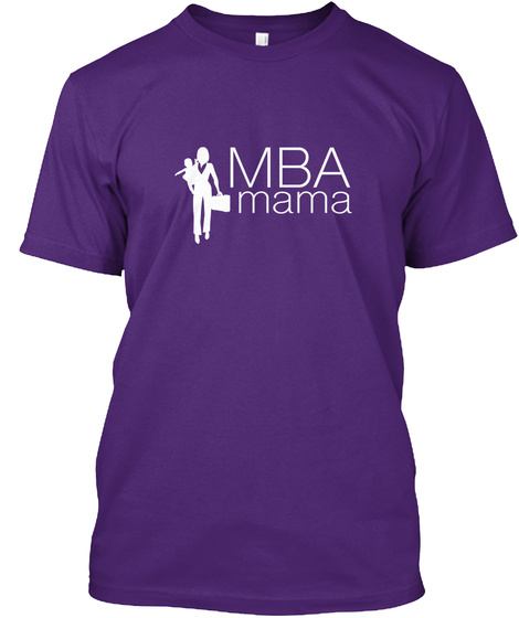 Mba Mama Purple T-Shirt Front