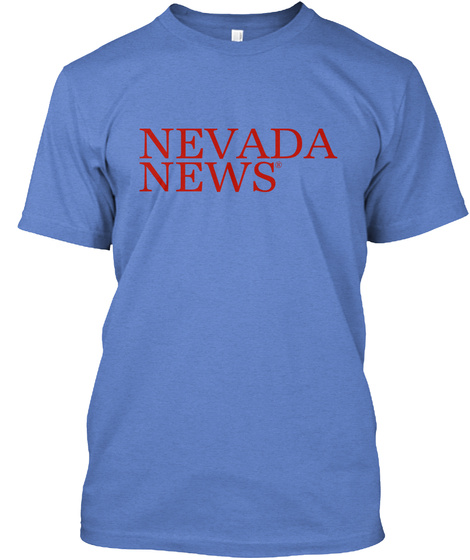 Nevada News® State Blue Shirt Heathered Royal  T-Shirt Front
